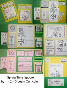 Spring time lapbook available at 1 - 2 - 3 Learn Curriculum. Along with video to make a lapbook and flipbook for this layout. Membership is only $30.00 a year. Check us out.... Free downloads. Thank you! Jean 1 - 2 - 3 Learn Curriculum