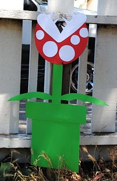 Yard decorations for Mario Party