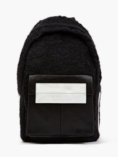 Eastpak x Nicomede Black Shearling and Leather Fleury Backpack   oki-ni