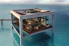 ocean views, dream homes, the ocean, beach houses, abu dhabi, unusual houses, dream houses, glass houses, island