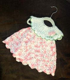 Crochet baby dress, sundress 6-9 months