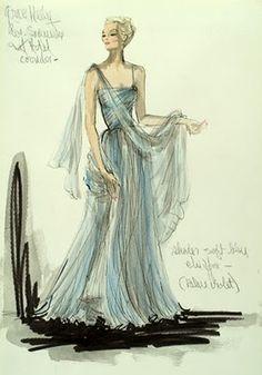 "Grace Kelly ""To Catch a Thief"" 1955, dress Edith Head"
