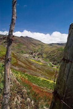 Pueblito en los páramos andinos del Estado Mérida, Venezuela.