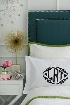 Monogram pillow.