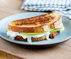 Baked Brie Grilled Cheese with Green Apple, and Honey-Dijon