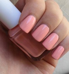 essie van d'goh... a beautiful peachy pink peachi pink, vans, nail polish, spring colors, pink nails, nail colors, essi van, van dgo, summer colors