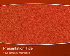 Basketball PowerPoint Theme is a free texture background for PowerPoint presentation using a basketball surface as PowerPoint background