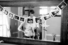 I like the idea of having a banner of the sonagram photos at the baby shower