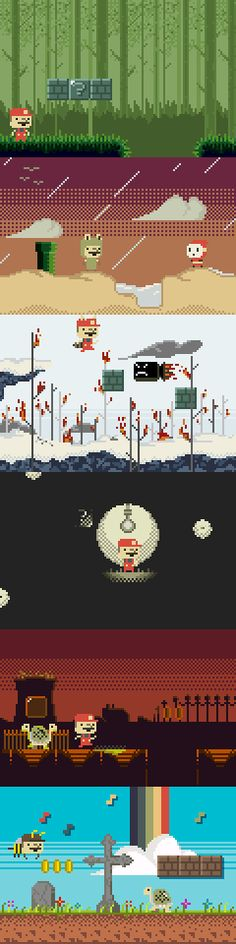Mario in the style of a modern indie game. - Imgur