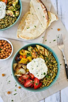 What's for lunch? This Grilled Vegetable and Lentil Salad.