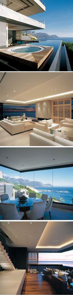 Hillside Villa overlooking Cape Town's Bantry Bay . SA