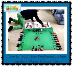 How to teach your pre-kindergartner the #sightwords through play  #pre-K  #ece