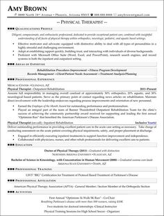 Resume For Physical Therapy Technician  Resume Physical Therapist