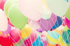 happy balloons. daisi pink, happi, pretti thing, inspir, balloons, color balloon, parti time, photographi, ballon