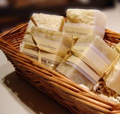 My daughter made soap favours for her wedding -- the green clean thing to do :)