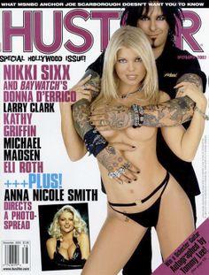 Throwback Thursday #TBT Featured on Hustler Dec 2003 cover, beautiful Donna D'Errico & Nikki Sixx