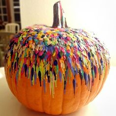 """No-carve Halloween pumpkin idea 