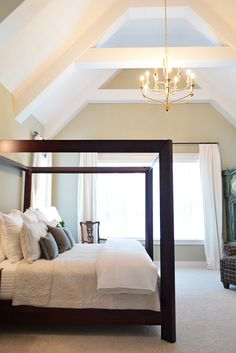 Brainstorming: Something like this with the ceiling in our new master bedroom?