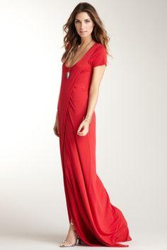 IMPROVD Selina Red Knit Maxi Dress
