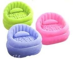 Inflatable Seating -- great for using when you want and storing away when you need the extra space!
