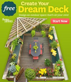 I like that this deck has so many flowers. If you click the link you get loads of free plans for veggie gardens - it's pretty cool.