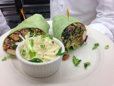 Recipe from The Cove kitchen on the blog today.  You will love this delicious and healthy wrap recipe and whipped parsnip side dish.  Enjoy!  www.NotesFromTheCove.com #Food