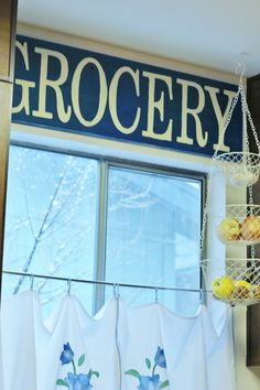 """GROCERY"" Painted Sign"