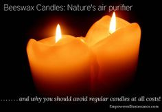 Beeswax candles: nature's air purifier! (And why to avoid regular candles at all costs)