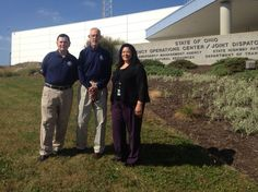 Where TEEX Trains -  TEEX - Critical Infrastructure & Security TEEX instructors Monroe Manley & Steve Pritchett with Lisa Jones at the  Emergency Operations Center in Columbus, Ohio.
