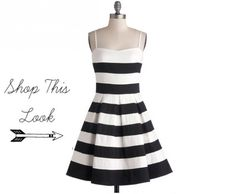 Black White Strip Bridesmaid Dress