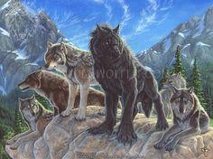 """Interloper"" by Christy ""Goldenwolf"" Grandjean.  Acrylic on Illustration board.  www.goldenwolfen.com"