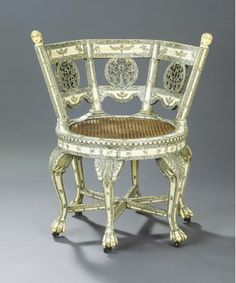 Burgomaster (revolving) Chair, India ca. 1750-60