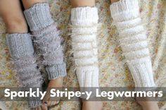 Sparkly Stripe-y Legwarmers, LOVE THEM!