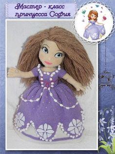 Мастер-класс принцесса София Прекрасная - фиолетовый,кукла ручной работы