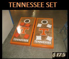 TENNESSEE VOLUNTEERS Cornhole set or Tennessee by lawnman2880, $175.00