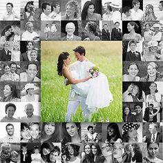 Your friends and family were as much a part of the big day as you and your spouse were. Collect photos from the wedding day to create this unique frame. You can print the photos at Kodak Picture Kiosk. #wedding #photography #ideas #diy #craft