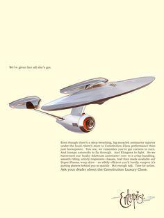The Starship Enterprise - 50's style! (Star Trek)