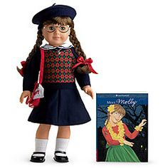 I loved American Girl Dolls when I was little!  Molly was my first one and my favorite!