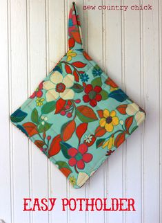 Easy Potholder Tutorial.  For all those scraps of fabric.