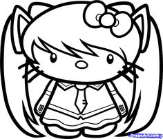 color on pinterest coloring pages hello kitty and coloring sheets - Coloring Pages Kitty Nerd