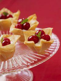 Mini Cranberry Phyllo Tarts
