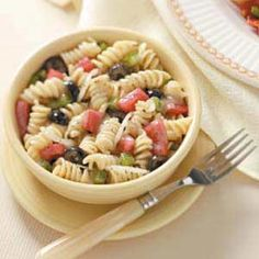 Spiral Pasta Salad Recipe from Taste of Home -- shared by Sue Gronsholz of Beaver Dam, Wisconsin