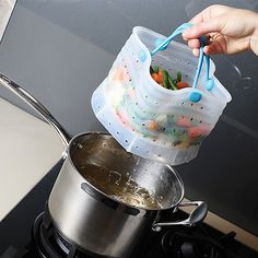 Easily boil, steam and strain your vegetables.  http://rstyle.me/n/ct6usnyg6