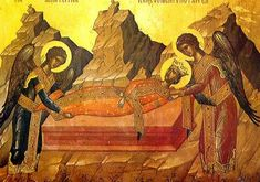 The Body of St. Catherine - Icon in the Monastery of St. Catherine.