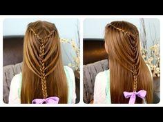 Waterfall Twists into Mermaid Braid   Cute Girls Hairstyles