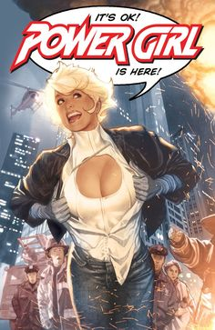 Power Girl Cover by ~AdamHughes