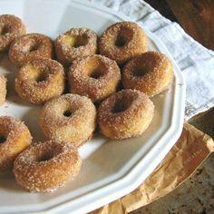 Baked Cinnamon-Sugar mini Doughnuts