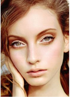 [Codie Young. Ethereal, white liner on the water line, smoked in the crease, sweet and light.]--I've never tried white eyeliner before, and this is the first time I've ever really seen in it, but I like it and will probably give it a try.