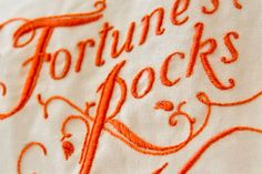 Fortune's Rocks - embroidered book cover by MaricorMaricar Studio, via Behance