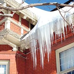 How to Get Rid of Ice Dams. #homeimprovement #realestate